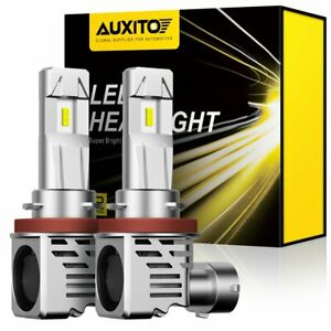 AUXITO H8 H11 LED Headlight Bulb Low Beam 24000LM 6500K Kit Super Bright Canbus