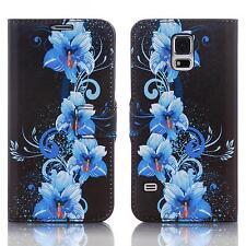 Handy Tasche Schutz hülle Wallet Case Flip Cover für Samsung Galaxy S7 Edge blau