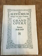 1928-1929 Chicago Civic Grand Opera Program Rigoletto Advertising