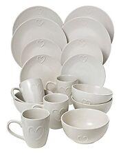 Cream 16 Piece Dinner Set Dinner Plates Side Plates Deep Bowls Mugs