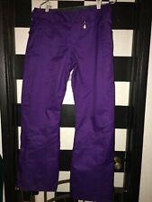 Purple Volcom Boom insulated 8K Women's Snowboard Pants Ski size M Medium