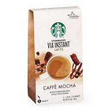 STARBUCKS Via Instant Latte CAFFE MOCHA Coffee Beverage 5 packets
