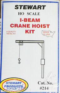 Stewart HO Scale #214 / I-Beam Crane Hoist Kit (White Metal / Brass) 1:87th
