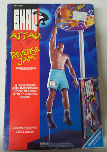 "Vintage 1993 Kenner Shaq Attack Reverse Jam 6"" Action Figure w Accessories NOS"