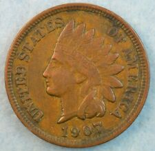 1907 Indian Head Cent Penny Very Nice Old Coin Fast S&H 415