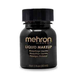 Liquid Makeup 1 oz face body paint artist theatrical fair park clown Mehron MUA