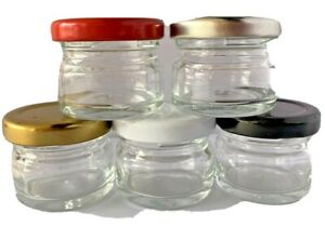 25ml.Small Glass Sample Clear Jars With Screw Top Lid Wedding,Honey,Jam