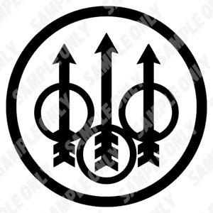 Beretta Logo Car 4x4 Trailer Gun Safe Tacklebox Toolbox decal sticker