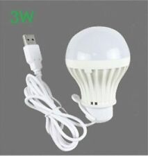5V low-voltage light led energy-saving rechargeable emergency bulbs 3W USB bulb