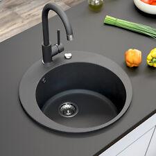 BERGSTROEM Évier de cuisine en granit encastré réversible 505 noir