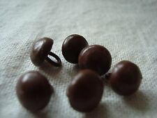 6 Vintage BROWN Boot Button - Suit Teddy Eyes