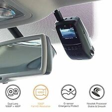 Car Dash Camera Covert Recorder Dual Car Cam, LCD, 170 Wide Angle with G-Sensor
