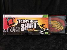 TONY HAWK SHRED:SKATEBOARD BUNDLE XBOX 360 Game & Wireless Skateboard Controller