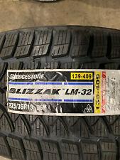 2 New 275 35 19 Bridgestone Blizzak LM-32 Snow Tires