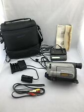 Sony Handycam CCD-TRV62 8mm Hi8 Camcorder Player Owner Manual Batter Charger Lot