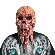 Bloody Zombie Mask Melting Face Adult Latex Costume Walking Dead Halloween_Scary