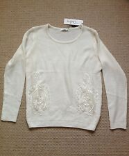 Gorgeous Darling Cream Knitted Jumper, size UK8 - brand new with tags, RRP £59