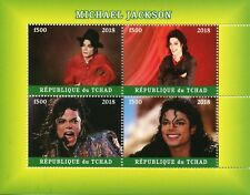 Chad 2018 CTO Michael Jackson 4v M/S Pop Stars Popstars Music Celebrities Stamps