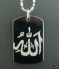 Allahu Akber Religion calligraphy Tag Necklace
