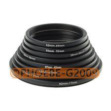 82-77-72-67-62-58-55-52-49 mm Step Down Rings SET 8pcs