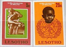 LESOTHO 1978 254-55 Global Eradication of Smallpox WHO Ausrottung Pocken Medizin