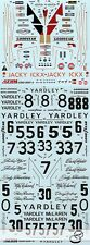 YARDLEY M23 ICKX HAILWOOD HOBBS TRANSDECAL FOR TAMIYA 1/20 M23 McLAREN