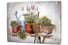 Blechschild XXL Blumenladen F. Heigl Stillleben Gartenpflanzen