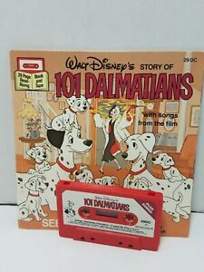 Vtg Disney Storyteller 101 Dalmatians Cassette Tape & Book See Hear Read A Long