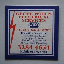 GEOFF WILLS ELECTRICAL SERVICES 31 FRASER ST KIPPA-RING 32844654 COASTER