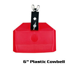 """6"""" Plastic Cowbell color Red  (  ACBP-6RD  )"""