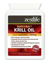 Krill Oil Superba™ 500mg 60 Soft Gel Capsules brain,heart, joint health
