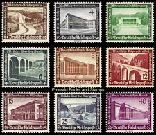 EBS Germany 1936 Winter Charity Modern Buildings & Structures Michel 634-642 MH*