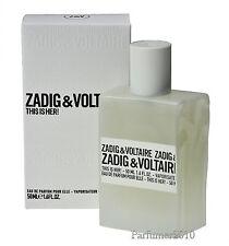 Zadig & Voltaire This is her 50ml Eau de Parfum EDP Neu & Originalverpackt