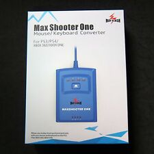New Max Shooter One Mouse Keyboard Converter Adapter for to PS3 PS4 XBOX 360 ONE