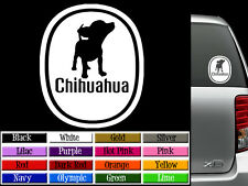 Chihuahua Dog Vinyl Decal Auto Graphics Window Sticker - ANY COLOR
