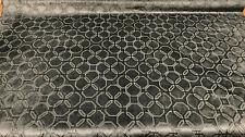 Robert Allen Antique Black Embossed Velvet Upholstery Fabric By The Yard