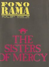 THE SISTERS OF MERCY FRONT COVER POLISH FONORAMA MONTHLY 1991