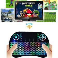 Remote Backlight Mini 2.4GHz Wireless Keyboard Touchpad Fly Air Mouse + Receiver