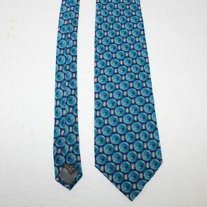Valentino Cravatte Men's 100% Silk Tie Green Teal Necktie Hand Made in Italy