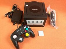 Nintendo GameCube Jet Black System Console Official OEM Controller Super Bundle!