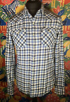 Cool Men's LEVI'S Check / Lumberjack Shirt Size S Slim Fit PEARL SNAP BUTTONS