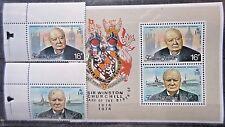 Falkland Islands 1974 Churchill Birth Centenary Set & Mini Sheet. MNH
