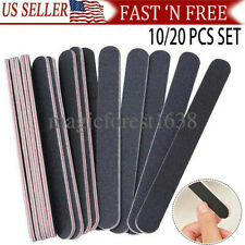 Pro Double Sided Manicure Nail File Emery Boards Buffer Shiner Files Packs of 20
