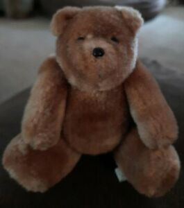 """Vintage Eden Toy Inc. Miniature Teddy Bear Fully Jointed 1986 approx. 4.5"""""""