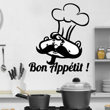 Kitchen Cook BonAppetit Quote Wall Stickers Art Dining Room Removable Decals DIY
