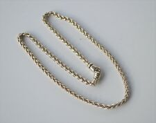 "David Yurman Necklace Wheat Chain Cable Sterling Silver Clasp 18"" 4mm"