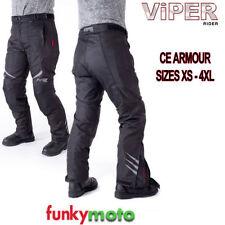 Pantalones para hombres color principal negro de rodilla para motoristas