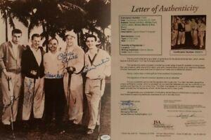Rare Mickey Mantle Ford Martin signed 11x14 Golf Photo Auto Autographs JSA/LOA