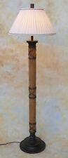 Stehlampe Lampe Stehleuchte Stoffschirm Bambus Asien Asiatika Meditation PQ017-b