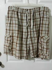 Herkimer Men Multi-Color Brown Plaid Shorts Size XL MC683